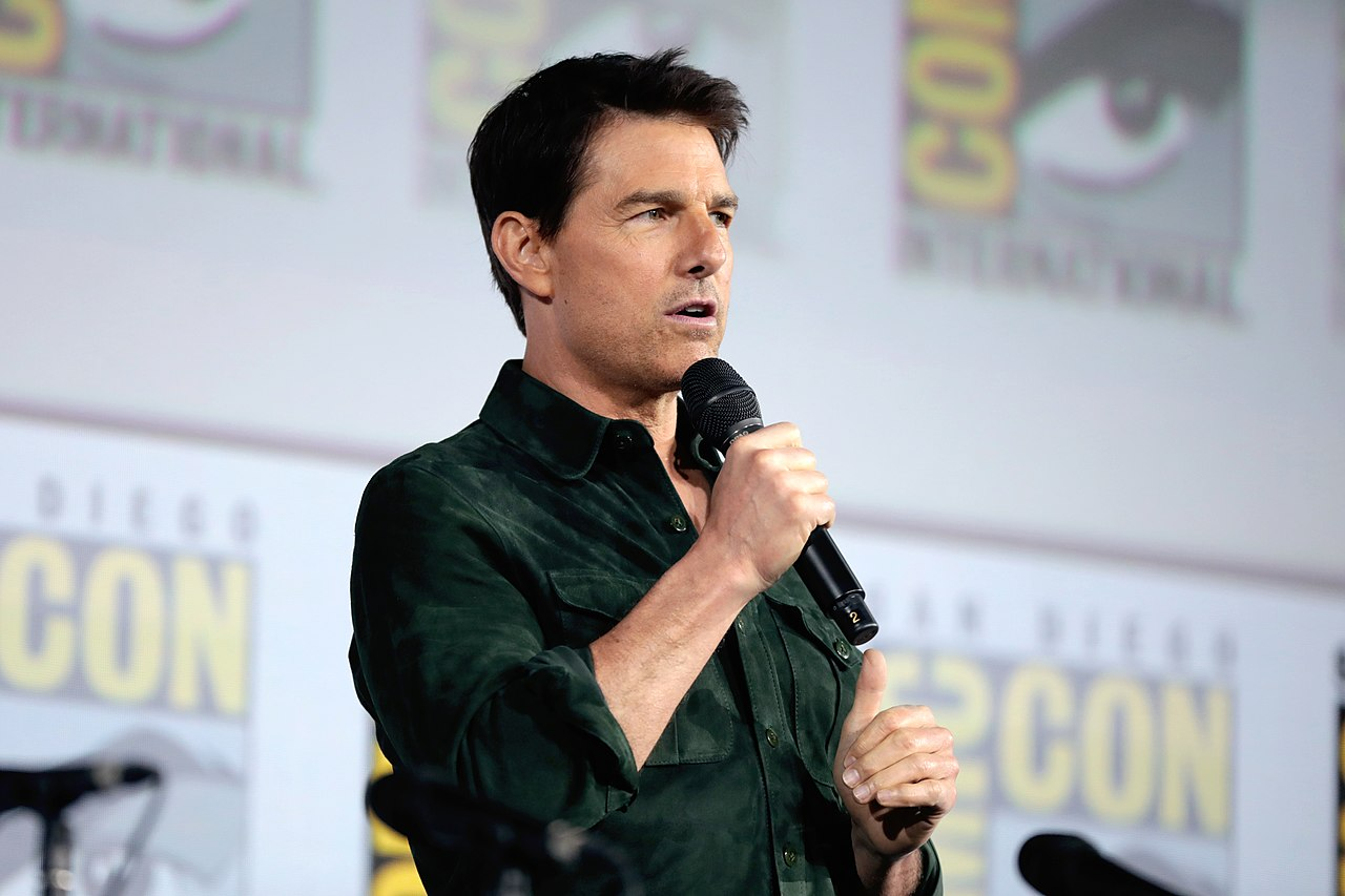 Tom Cruise speaking at the 2019 San Diego Comic Con International — Photo by Gage Skidmore
